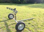 DuCaR Atom 35 high flow irrigation sprinkler with wheeled cart
