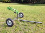 Perfect water distribution, easy to use agricultural sprinkler cart