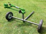 Agricultural irrigation sprinkler with wheeled cart