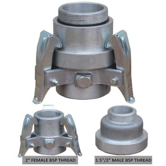 2 or 1.5 inch quick coupling connection fitting for gear drive sprinkler heads