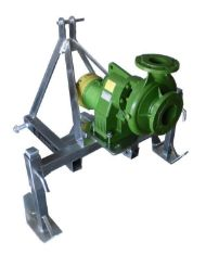 Rovatti T2-85E PTO Driven Pump with frame, drive shaft and inlet/outlet fittings