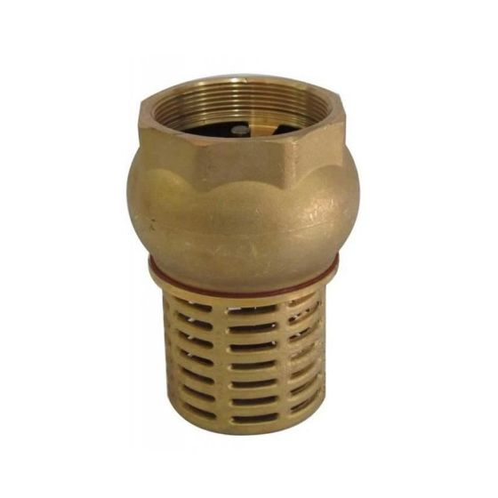 Brass Foot Valve with Strainer