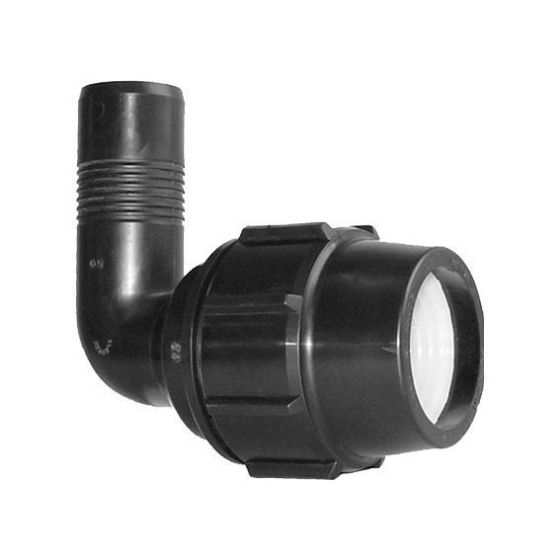 Plasson 7350 90° Metric Elbow Adaptor